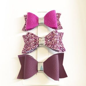 Other - Berry glitter bows